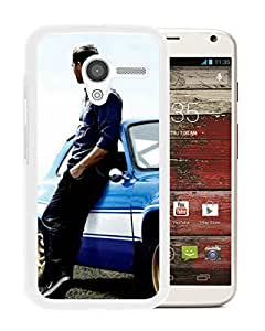 Fashionable Custom Designed Skin Case For Motorola Moto X With Paul Walker 1 White Phone Case