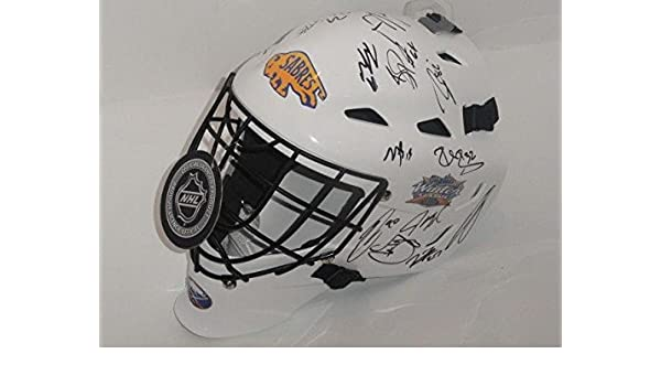 b7129781b Amazon.com  2018 Buffalo Sabres Team Signed Winter Classic Goalie Helmet Jack  Eichel Kane ++ - Autographed NHL Helmets and Masks  Sports Collectibles