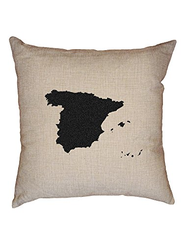Hollywood Thread Spain Decorative Linen Throw Cushion Pillow Case with Insert by Hollywood Thread