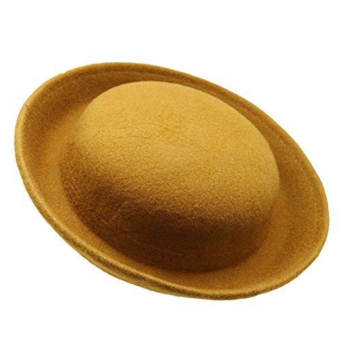 HATsanity Women's Trendy Wool Felt Mini Bowler Hat Style Fascinator ()