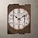 SMC H15 Country Style Vintage Wall Clock Home Decor Design Antique Style Silent Wall Clocks (MDF)