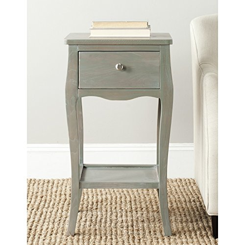 French Country Living Chair Pad - Safavieh American Homes Collection Thelma French Grey End Table