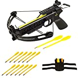 Bolt Pitbull Crossbow Starter Kit Includes Pitbull Crossbow, 12 Plastic Bolts, and Adjustable Wrist Sheath