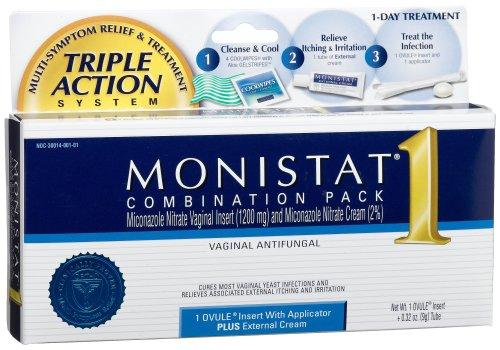 Combinaison de Monistat Pack, Insérer une-ovule avec applicateur et externe Crème