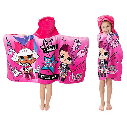 L.O.L. Surprise! Soft Cotton Hooded Bath Towel Wrap
