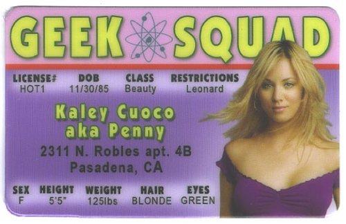 Kaley Cuoco Penny Big Bang Theory Fun Fake ID License by Signs 4 Fun (Best Of Kaley Cuoco)