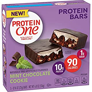 Protein One 90 Calorie Protein bar Mint Chocolate Cookie, 5Count (Pack of 12)
