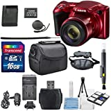 Canon PowerShot SX420 IS (Red) with 42x Optical Zoom and Built-In Wi-Fi Digital Camera & 16GB SDHC + Mini Tripod +AC/DC Turbo Travel Charger + Cleaning pen + Along with a Deluxe Bundle