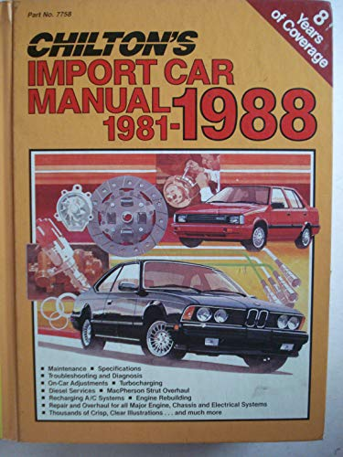 (Chilton's Import Car Repair Manual,)