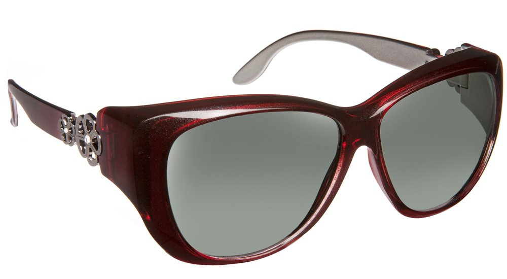 Haven Fitover Sunglasses Manhattan in Red & Polarized Grey Lens