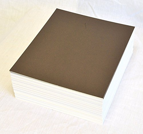 Brown Matboard - topseller100, Pack of 50 sheets 16x20 UNCUT matboard / mat boards (brown)