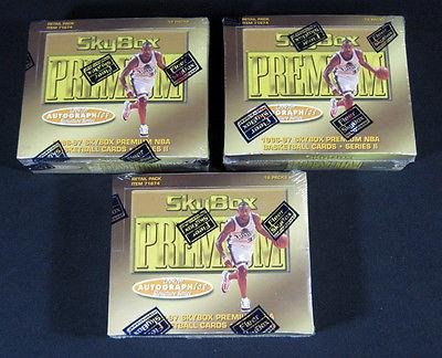 Lot of (3) 1996/97 Skybox Premium Series 2 Basketball Retail Boxes 18 Pks Bryant - NBA Basketball Cards by Sports Memorabilia