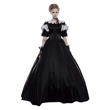 TAOtTAO - Falda de Corte gótico Vintage Medieval para Mujer ...