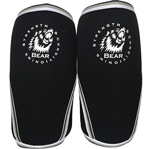 Non Slip Breathable Knee Sleeve Braces - Breathable and Washable 7mm Strength Neoprene Non Slip Knee Braces for Men and Women.