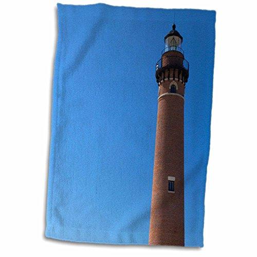 Little Sable Point Lighthouse (3D Rose Little Sable Point Lighthouse-Lake Michigan USA-Us23 Dfr0234-David R. Frazier Towel, 15
