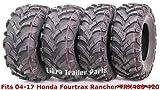 24x8x11 atv tires - Set 4 ATV tires 24x8-12 & 24x10-11 for 04-17 Honda Fourtrax Rancher TRX400 420