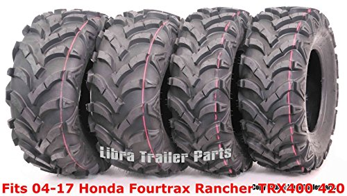 Set 4 ATV tires 24x8-12 & 24x10-11 for 04-17 Honda Fourtrax Rancher TRX400 420