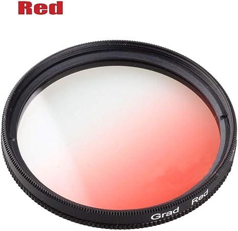 Yunchenghe Filtro de gradiente de gradiente Rojo Graduado de 52mm ...