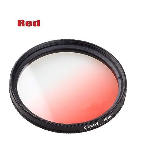 Yunchenghe Filtro de gradiente de gradiente Rojo Graduado de 62mm ...