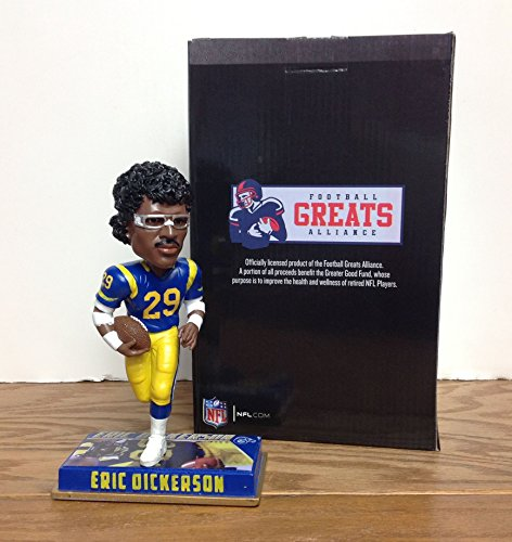 Eric Dickerson Los Angeles Rams with Classic Old School Goggles Limited Edition Bobblehead