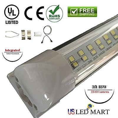 4pk of 3ft 18w T8 Integrated LED Tube Light - (Day Light)