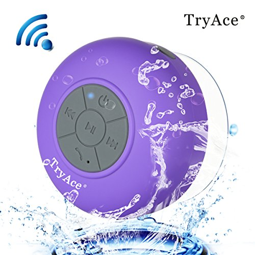 Nice TryAce®Wireless Bluetooth Waterproof Shower Speaker Bluetooth 3.0 Car  Handsfree Speakerphone Built In Mic Control Buttons And Dedicated Suction  Cup For ... Images