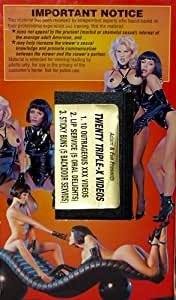 Adam and Eve Adult Films X Rated Vintage VHS Adult Film - 10 Outrageous XXX Videos, Lip Service and Sticky Buns