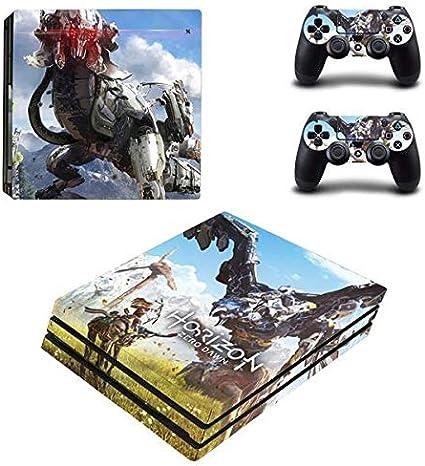 thtb Playstation 4 Pro + 2 controlador Diseño Sticker Protector Juego – Horizon: Zero Dawn (1)/PS4 P: Amazon.es: Videojuegos
