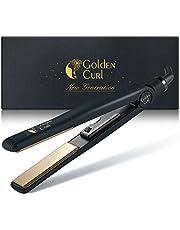 Golden Curl Lisseur Fer a lisser Tourmaline GL829 professionnelle, 2en1 ultra coiffante, lissante & Ionic Curly Hair Waves Garantie 5ans