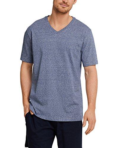 Haut 818 Mix Pyjama T Homme ausschnitt amp; mel shirt De V dunkelblau Relax Bleu Schiesser x014SwqUU