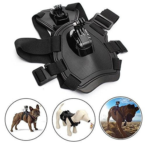 Hiquty Dog Pet Strap Chest Back Mount Belt Harness Camera Accessories for Gopro Hero (Mallet Puff)