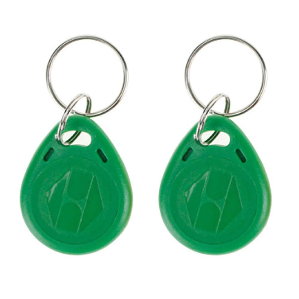 OBO HANDS 20pcs 125 KHz EM4100 Proximity ID RFID Smart Tags Access Control Smart Card Keyfobs Key Card (Green)