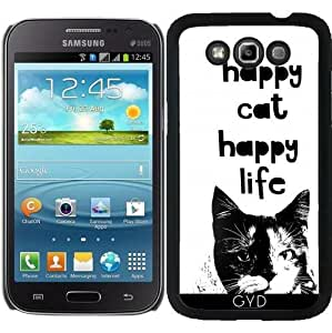 Funda para Samsung Galaxy Win GT-I8552 - Gato Feliz by Andrea Haase