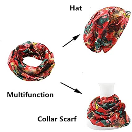 Autumn Winter Dual-Use Hats for Ladies Thin Skullies and Beanies Women Scarf Face Mask