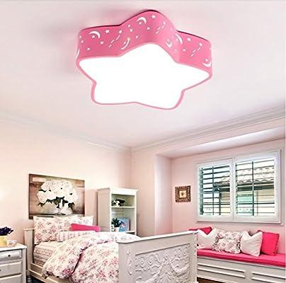 WoOnew Iluminación de techo de interior Rosa habitación ...