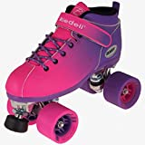 New2016!! Riedell Pink and Purple Dart Ombre Roller Speed Skate for Indoor Skating