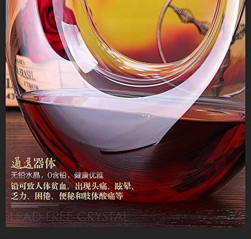 Niveau 2 VCB Carafe /à vin en Corne en Forme de U de Cristal Clair Contenant de vin Rouge Transparent
