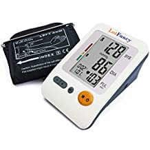 "LotFancy FDA Approved Auto Digital Arm Blood Pressure Monitor,30x4 Memories for 4 Users,4"" LCD,Irregular Heartbeat Detector,WHO Indicator"