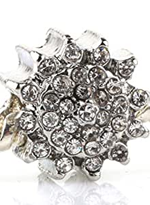 Flower Spacer Charm by Crystal H Brand for Pandora Bracelet