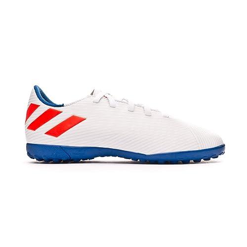 8c709be5bd0 adidas Nemeziz Messi 19.4 Turf Niño, Zapatilla de fútbol Sala, White-Solar  Red