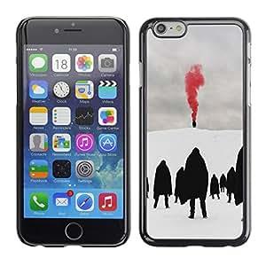 For Apple iPhone 6 Plus(5.5 inches)Case , Red Blood Metal Goth Winter Dark - Diseño Patrón Teléfono Caso Cubierta Case Bumper Duro Protección Case Cover Funda
