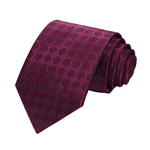 HISDERN Plaid Tie Handkerchief
