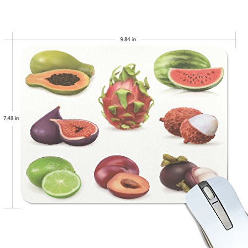 Delicate Fruit Non-Slip Rubber Mousepad Gaming Rectangle Mouse Mat Pad for Laptop (Delicate Fruit)