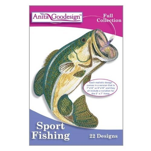 (Anita Goodesign ~ Sport Fishing ~ Embroidery Designs CD)