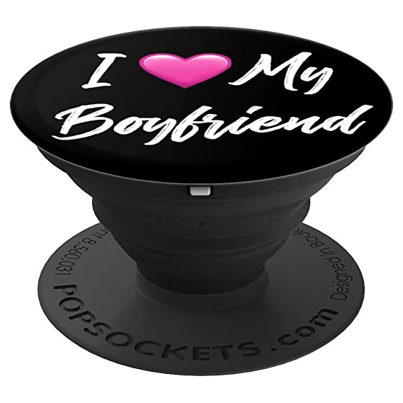 I Love My Boyfriend Heart Cursive Romantic - PopSockets Grip and Stand for  Phones and Tablets