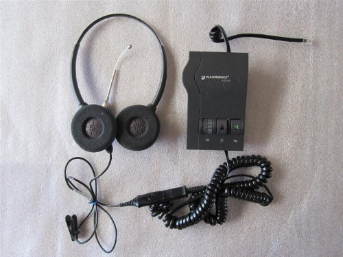 Plantronics M12 Vista Amplifier (PLANTRONICS SupraPlus H261 Binaural (2-earpiece) Headset and M12 Vista Amplifier with Cords. Very good, READY-TO-OPERATE Condition)