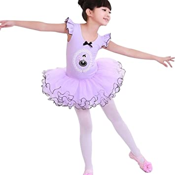 S Support TM Niños Traje de ballet niña ballet vestido tutú ...