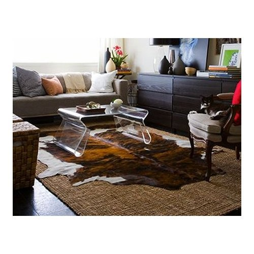 Brindle White Belly Cowhide rug product image