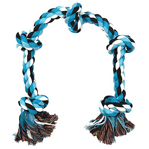 BLUEISLAND Dog Rope Toys Aggressive Chewers Tough Rope Chew