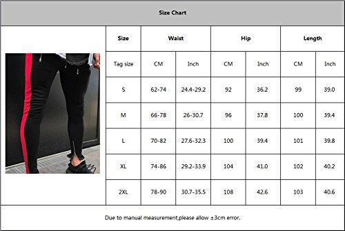 Pantaloni Uomo Pantalone Tacksuit Blu Da Colore Per Media A Elastica Moda Fitness Vita Confortevole Jogging Strisce Impiombato Sportivi Casual XgrwX